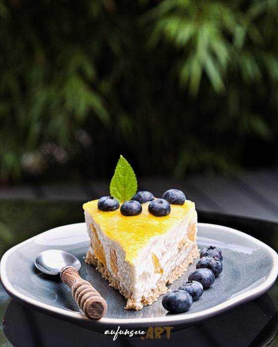 Pfirsich Kokos Cheesecake