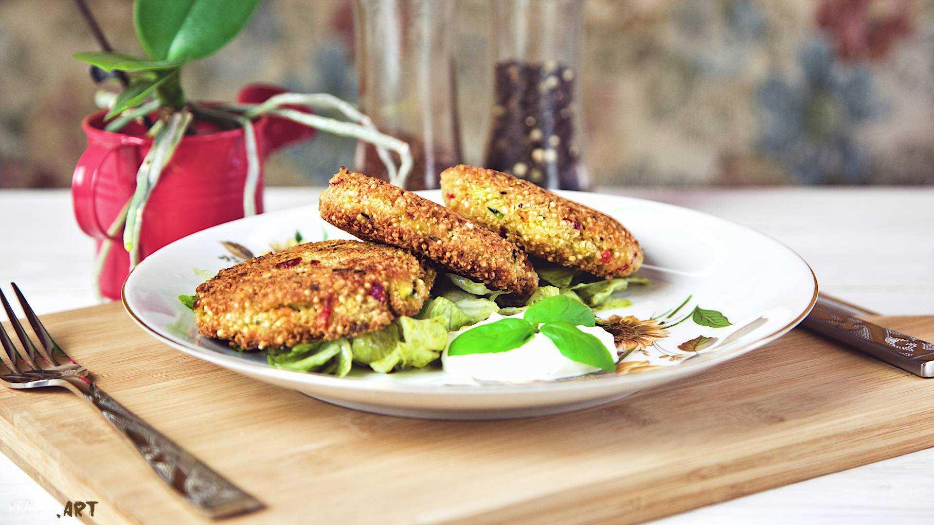 Quinoa Laibchen, Super Food, 100% Genuss Rezept vegetarisch!