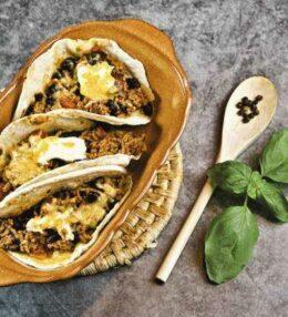 überbackene Tacos, 1 x würzig oder 2 x feurig