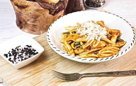 Pasta Tomaten Speck Rezept