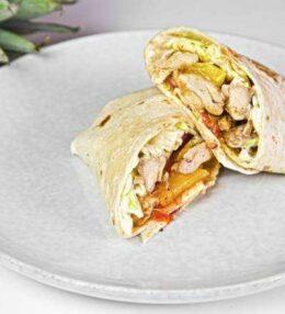 fruchtiger Wrap mit Huhn, einfach und schnell gemacht