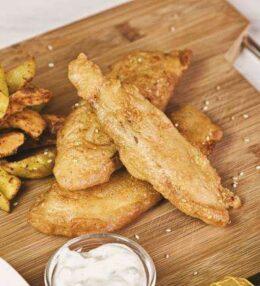 Fish and Chips im einfachen Knusperteig – finger-lickin' good