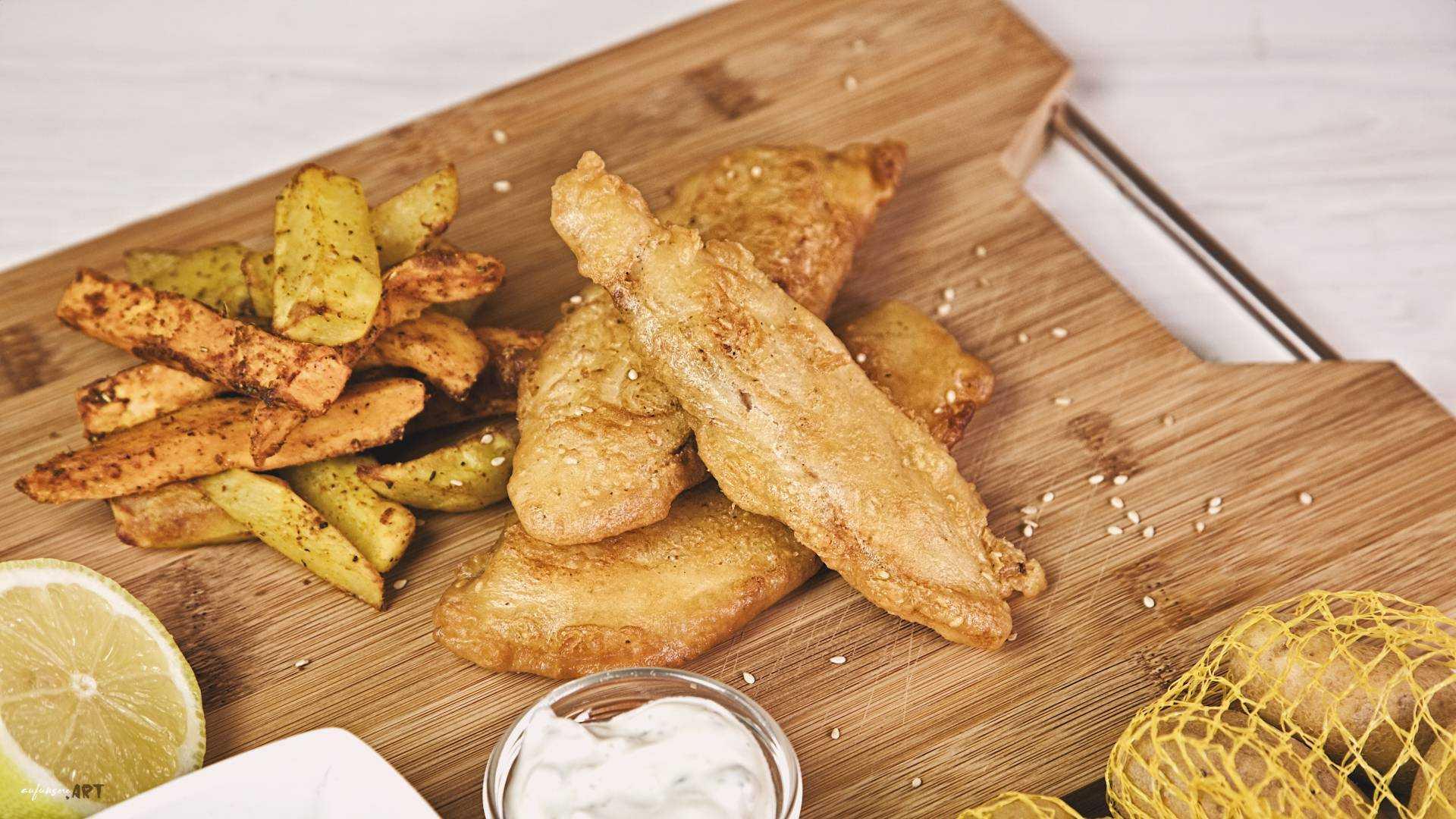 Fish and Chips im super einfachen Backteig