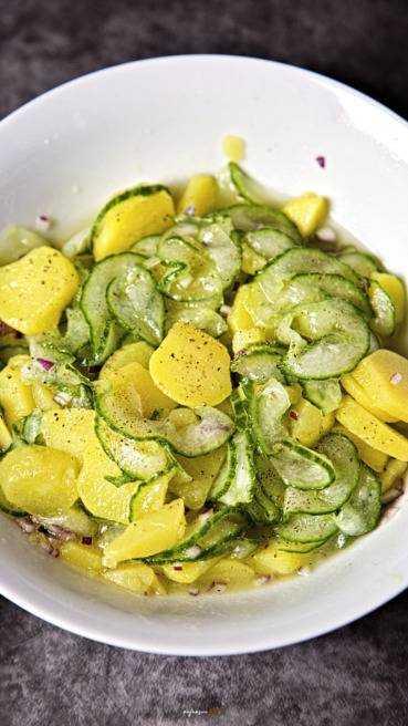 Kartoffel Gurken Salat Abbildung 1