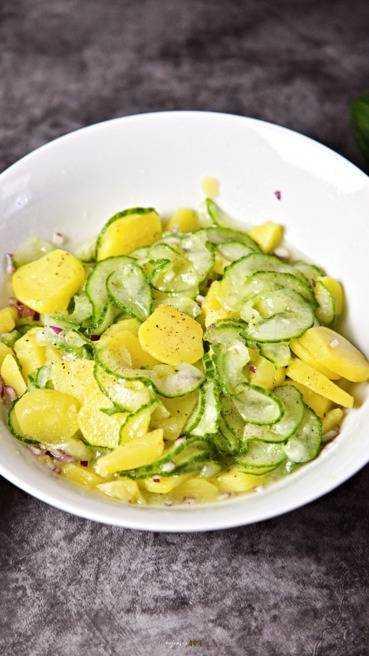 Kartoffel Gurken Salat Abbildung 2