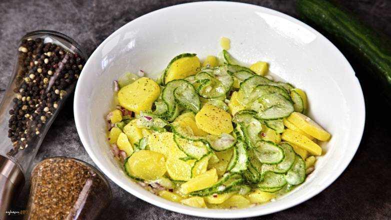 Kartoffel Gurken Salat Rezept