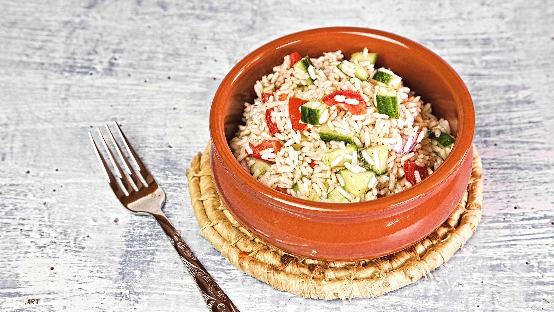 Reis Salat Rezept