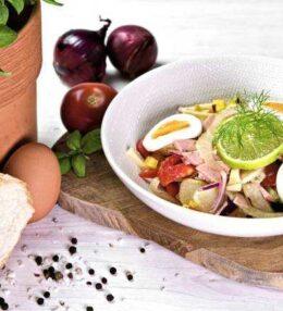 Wurstsalat, super fruchtig und erfrischend hilft er durch den Tag!