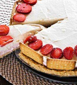 Erdbeer Kokos Mascarpone Torte, eine schnelle Torte ohne backen!