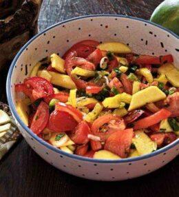Mango Salat, die fruchtig frische Beilage