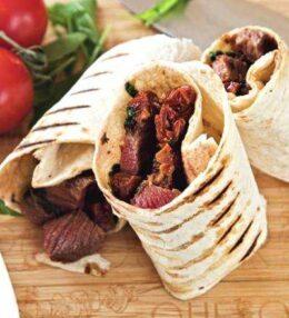 Beef Wraps, Steak einfach anders, Genuss in der Rolle