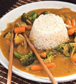 Gemüse Curry, vegan, 1 x einfach Genuss mit Biss bitte