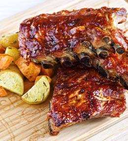 Sweet Honey BBQ Ribs, 100% Memphis Dust Slow-Food
