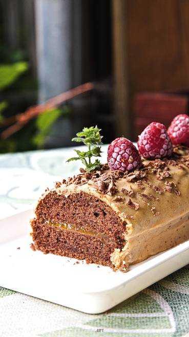 Baumstamm Kuchen Abbildung 1