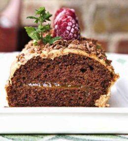 Schoko Baumstamm Kuchen, einfach wohlschmeckend!