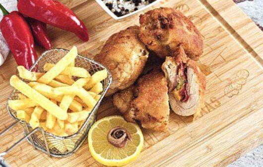 Gebackenes Huhn Pilzfüllung Rezept