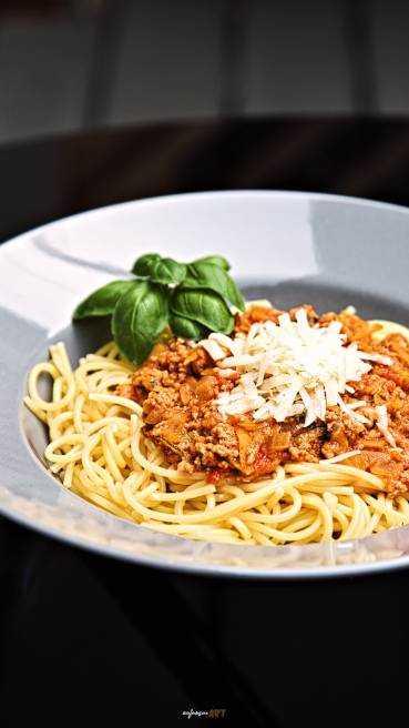 Spaghetti Bolognese Art des Hauses Abbildung 1