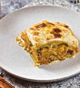 Kürbis Lasagne mit Pilzen, einfach unglaublich köstlich!