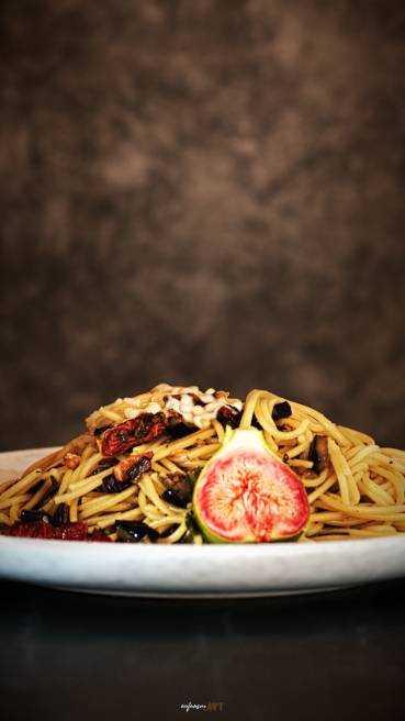 Spaghetti Aubergine Speck Tomate Abbildung 2