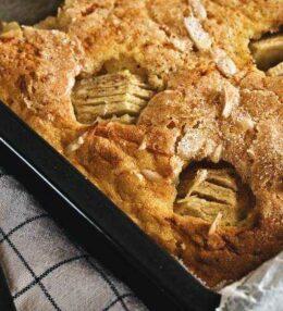 Kürbis Apfel Kuchen, der Traum von Feld und Baum