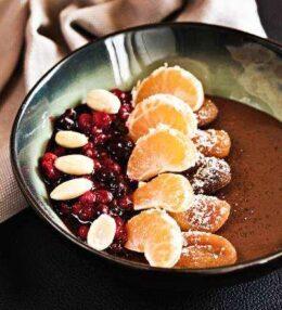 Schoko Kokos Pudding Bowl, einfach kunterbunt