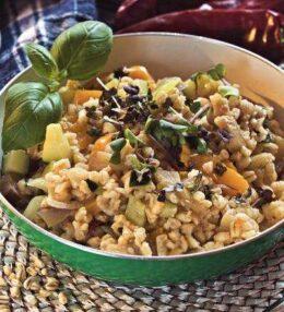 Zartweizen Gemüse Pfanne, einfach vegetarisch genießen