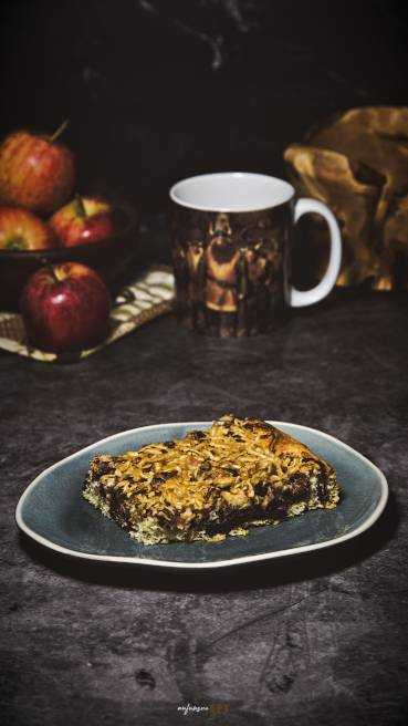 Apfel Schoko Nuss Kuchen Abbildung 1