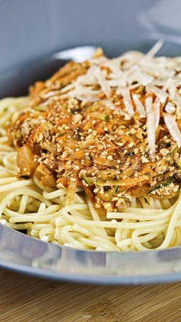Spaghetti Gemuese Tofu Bolognese Abbildung 1