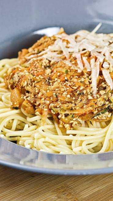 Spaghetti Gemuese Tofu Bolognese Abbildung 2