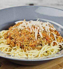 Spaghetti alle Verdure con Tofu, ungewöhnlich aber lecker!
