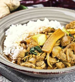 Wok Schwein Pilze Pak Choi, 1 x Spezialgewürz, ein Traum mit Reis