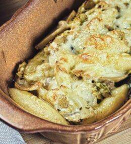 Schupfnudel Pilz Auflauf, vegetarisch einfach, einfach vegetarisch