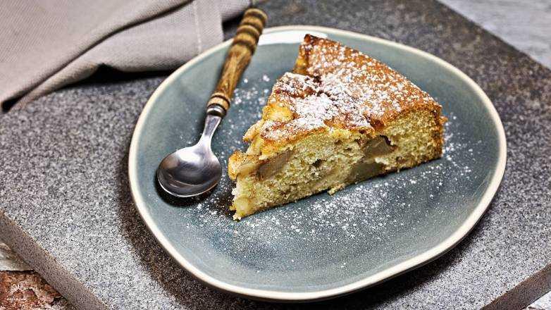 Birnen Schlupfkuchen, einfach und lecker, wie vom Bäcker