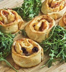Pizza Schnecken, das ultimative Party-Food und Single-Snack