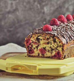 Rührteig Kuchen mit Himbeeren, Kokos und Schoko, einfach himmlisch