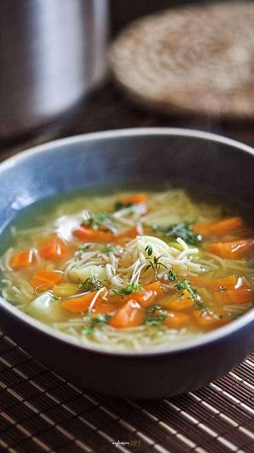 Gemüse Suppe mit Nudeln Abbildung 1