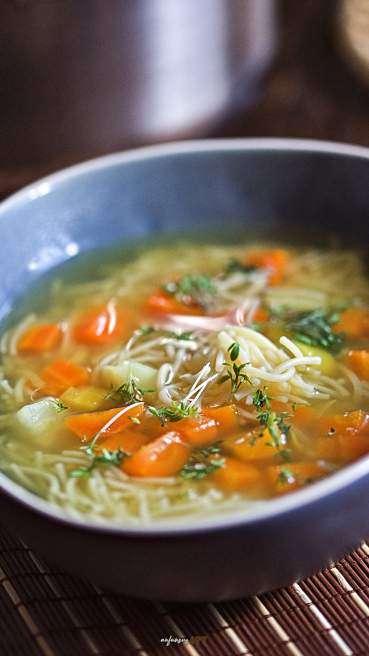 Gemüse Suppe mit Nudeln Abbildung 2