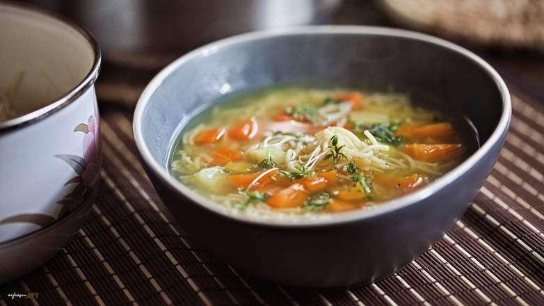 Gemüse Suppe mit Nudeln Rezept