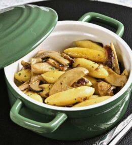 Schupfnudeln Pilze Sahne Pfanne, schnell und einfach gemacht