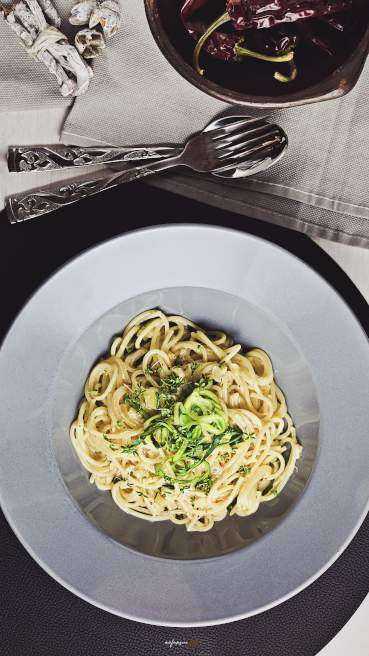 Spaghetti Zucchini Gorgonzola Abbildung 1