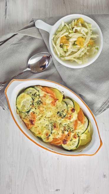 Suesskartoffel Zucchini Gratin Abbildung 2