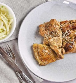 Huhn Sweet Chili Ingwer Chicken, schnell zubereitet, süß und pikant