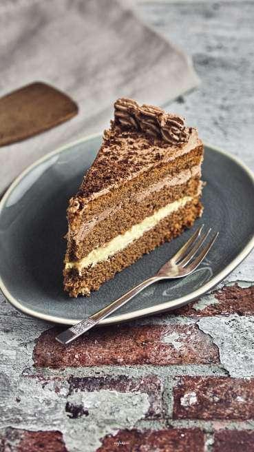 Schoko Torte Butter Creme Abbildung 1