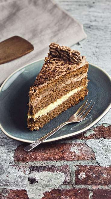 Schoko Torte Butter Creme Abbildung 2