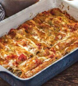 Cannelloni Pilzfüllung, unglaublich wohlschmeckend und einfach gemacht!