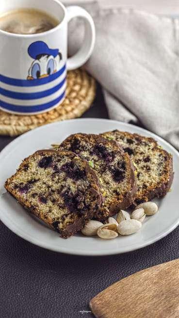 Heidelbeer Pistazien Kuchen Abbildung 1