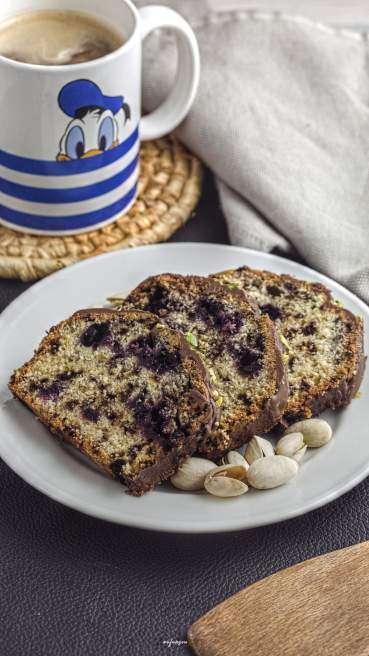 Heidelbeer Pistazien Kuchen Abbildung 2
