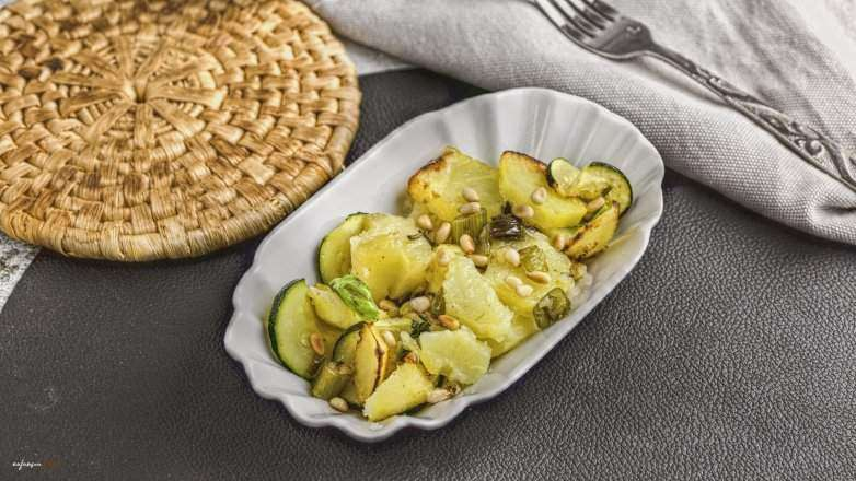 warmer Kartoffel Zucchini Salat Rezept