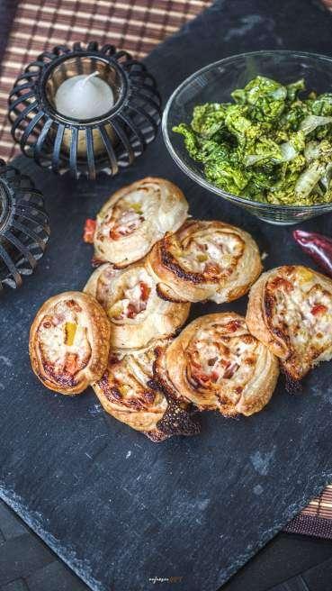 Pizza Frischkäse Schnecken Abbildung 1