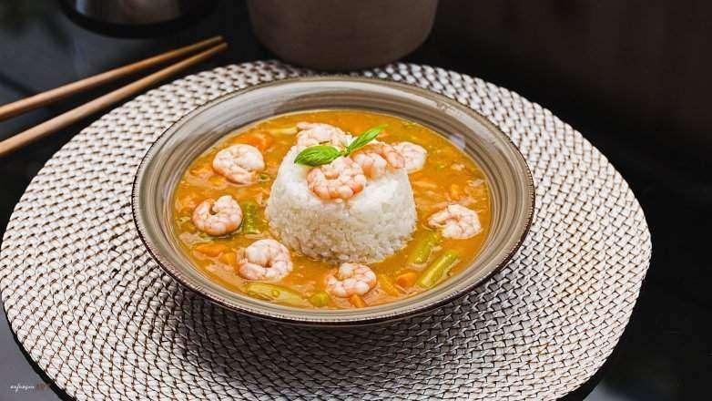 Spargel Garnelen Curry Rezept